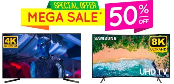 ofertas de pantallas 4k 8k