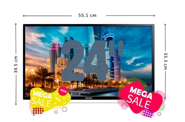 ofertas pantallas smart tv 24 pulgadas baratas
