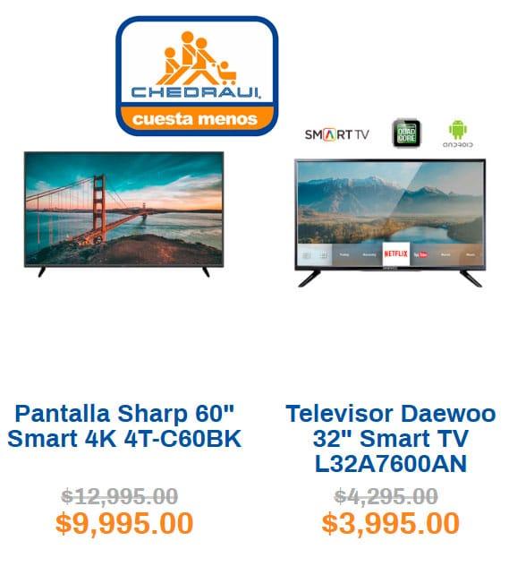 ofertas y precios de pantallas en chedraui