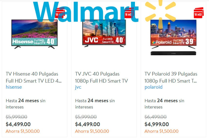 pantallas smart tv walmart